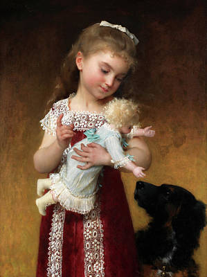 Designs Similar to Girl With Doll by Emile Munier
