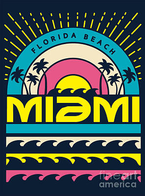 Designs Similar to Miami Surf Typography, T-shirt