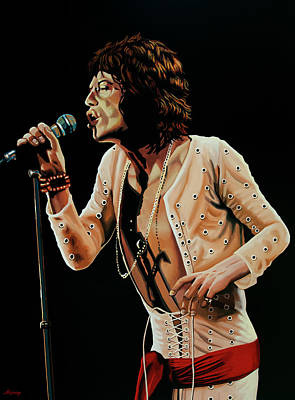 Designs Similar to Mick Jagger Painting 4