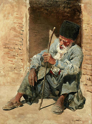 Designs Similar to Old Man Resting In A Doorway