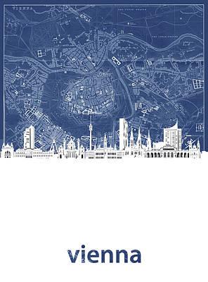 Designs Similar to Vienna Skyline Map Blue