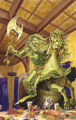 Gawain And The Green Knight Paintings