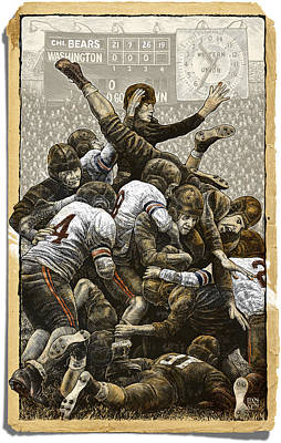 Drawing - 1940 Chicago Bears by Clint Hansen