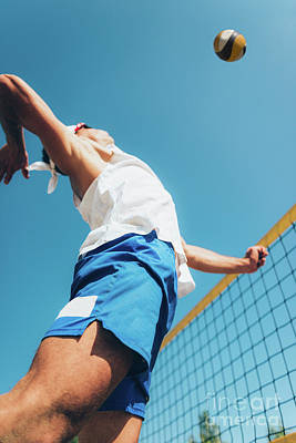 Designs Similar to Beach Volley Player At The Net