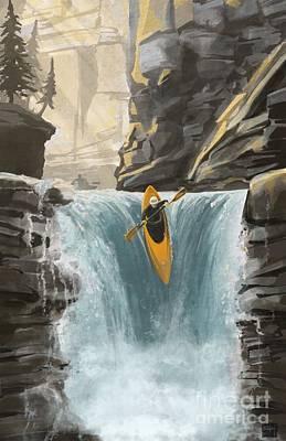 Kayaking Paintings