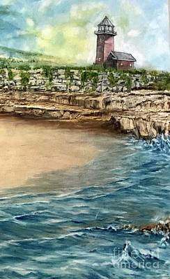 Painting - Lighthouse Beach by Michael Silbaugh