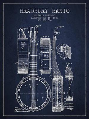 Banjo Digital Art Prints