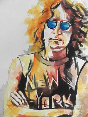 New York City. John Lennon Portrait Paintings