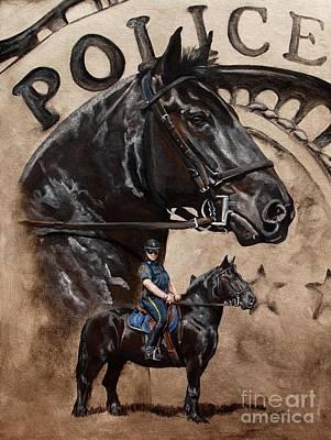 Police Officer Paintings Original Artwork