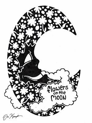 Man In The Moon Drawings Original Artwork
