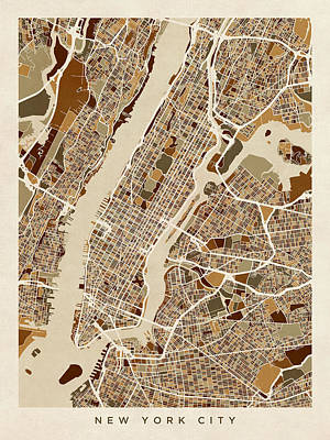 Designs Similar to New York City Street Map