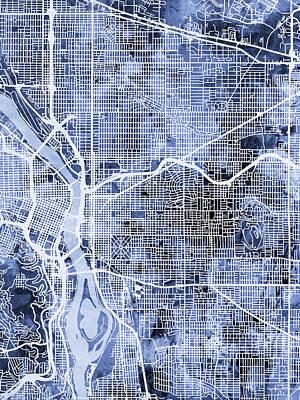 Designs Similar to Portland Oregon City Map
