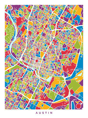 Designs Similar to Austin Texas City Map