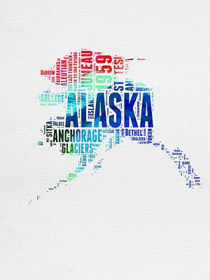 Designs Similar to Alaska Watercolor Word Cloud