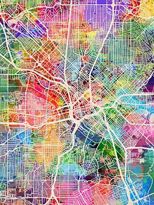 Designs Similar to Dallas Texas City Map