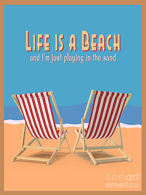 Designs Similar to Life Is A Beach Vintage Poster