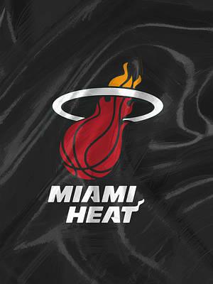 Miami Heat Jersey Digital Art