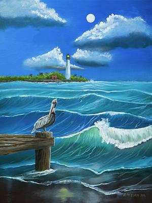 Cape Florida Lighthouse Original Artwork