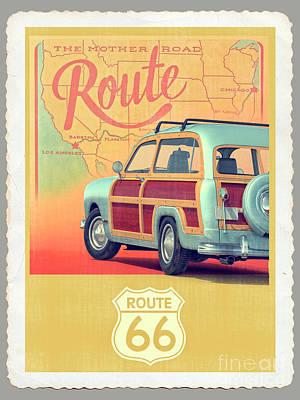 Designs Similar to Route 66 Vintage Postcard