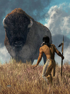 Designs Similar to The Hunter And The Buffalo