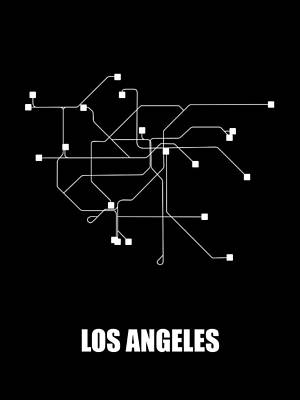 Designs Similar to Los Angeles Black Subway Map
