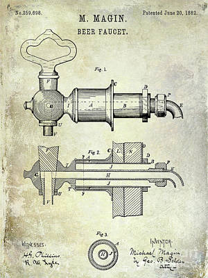 Designs Similar to 1882 Beer Faucet Patent 1882