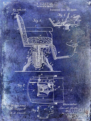 Designs Similar to 1892 Barbers Chair Patent Blue