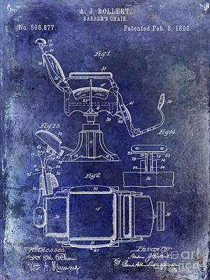 Designs Similar to 1898 Barber Chair Patent Blue