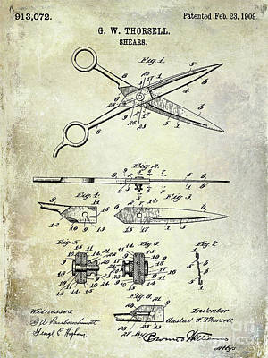 Designs Similar to 1909 Barber Shears Patent