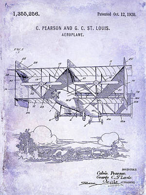 Designs Similar to 1920 Airplane Patent Blueprint