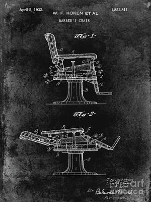 Designs Similar to 1932 Barber Chair Patent Black