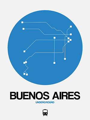 Designs Similar to Buenos Aires Blue Subway Map