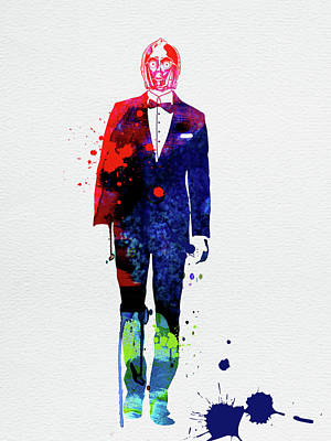 Designs Similar to C-3po In A Suite Watercolor