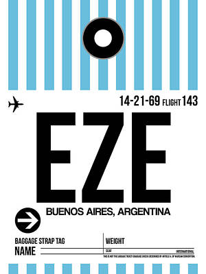 Designs Similar to Eze Buenos Aires Luggage Tag I