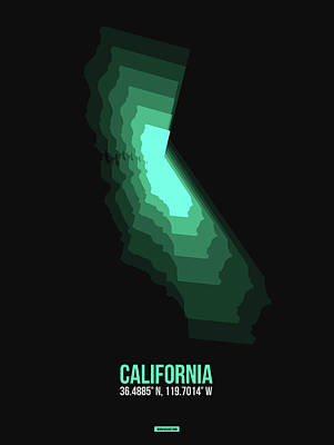 Designs Similar to Map Of California Teal
