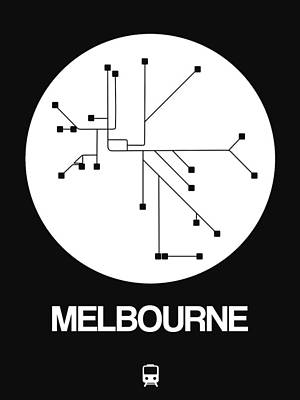 Designs Similar to Melbourne White Subway Map