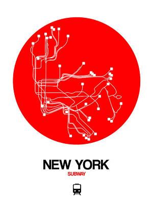 Designs Similar to New York Red Subway Map