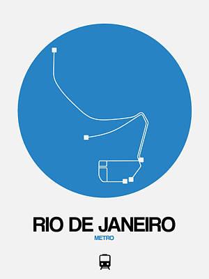 Designs Similar to Rio De Janeiro Blue Subway Map