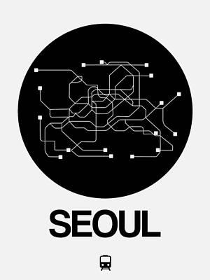 Designs Similar to Seoul Black Subway Map