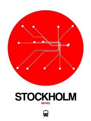 Designs Similar to Stockholm Red Subway Map