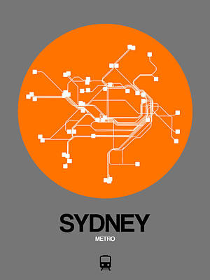 Designs Similar to Sydney Orange Subway Map