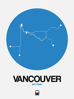 Designs Similar to Vancouver Blue Subway Map