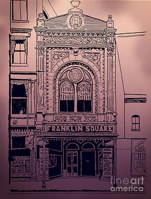 Downtown Franklin Mixed Media Prints