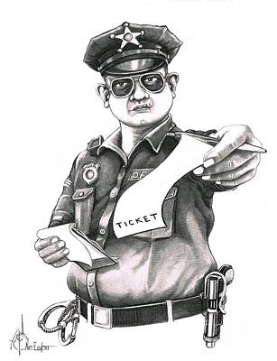 Police Officer Drawings Original Artwork