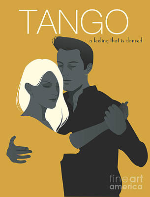 Designs Similar to Young Couple Dancing Tango