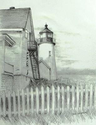 Pemaquid Lighthouse Drawings Prints