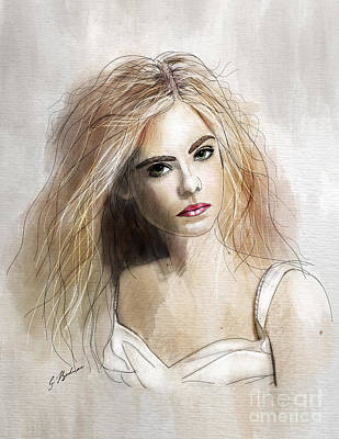 young blonde girl drawings fine art america