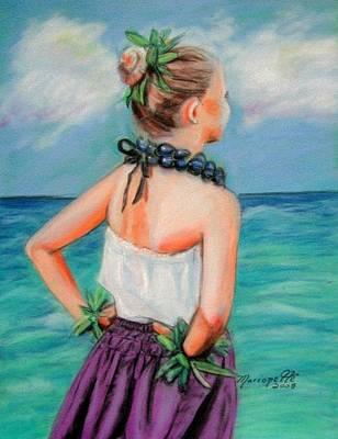Hula Girl Art Art