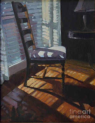 Ladder Back Chairs Original Artwork