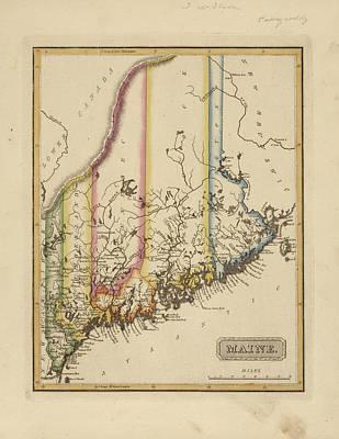 Designs Similar to Antique Map Of Maine